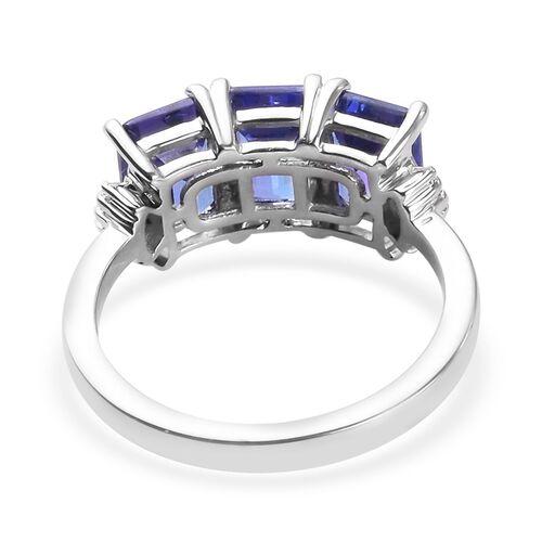 RHAPSODY 950 Platinum AAAA Tanzanite and Diamond (VS/E-F) Ring 3.07 Ct, Platinum wt 5.00 Gms