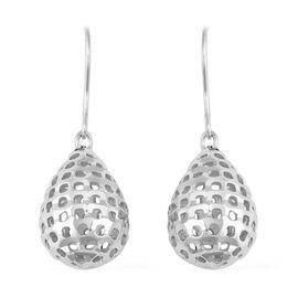 Designer Inspired- Rhodium Overlay Sterling Silver Hook Earrings