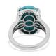 RHAPSODY 950 Platinum AAAA Arizona Sleeping Beauty Turquoise and Diamond (VS/E-F) Ring 8.21 Ct, Platinum wt. 6.57 Gms
