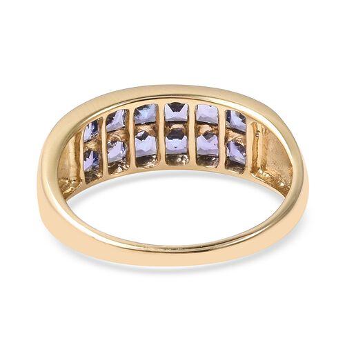 Close Out 14K Yellow Gold Tanzanite (Sqr) Band Ring 2.00 Ct.