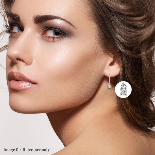 9K White Gold SGL Certified Diamond (Rnd) (G-H/I3) Lever Back Earrings 0.33 Ct.