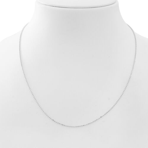 Vicenza Collection Rhodium Plated Sterling Silver Chain (Size 20), Silver wt 3.00 Gms.