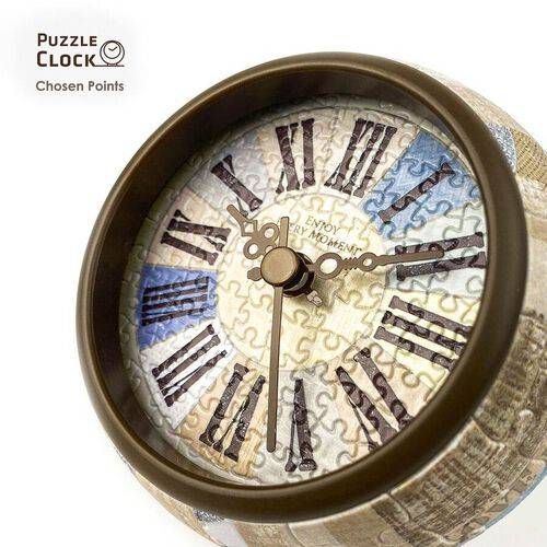 Pintoo Country Side Blue 3D Puzzle Clock with 145 Puzzle Pieces (Size 10x10x10.5cm)