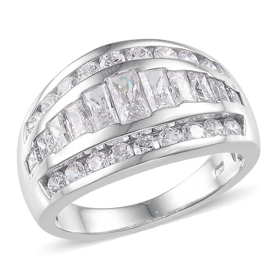 [Sponsored]TJC J Francis - Platinum Over Silver Rnd Ring made with Swarovski® Zirconia HRPJ2G
