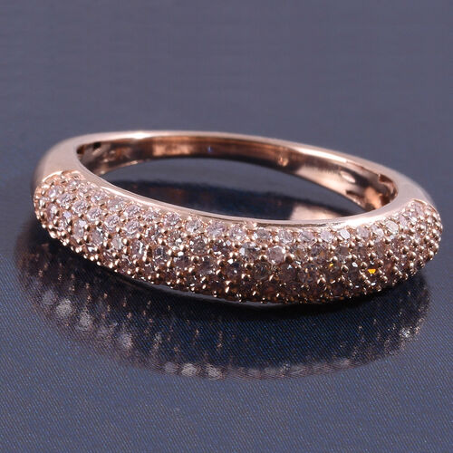 Exclusive Edition 9K Rose Gold Natural Pink Diamond (Rnd) Ring 0.500 Ct.