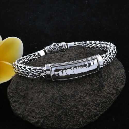 Bali Legacy Collection Sterling Silver Tulang Naga Bracelet (Size 8), Silver wt 53.34 Gms.