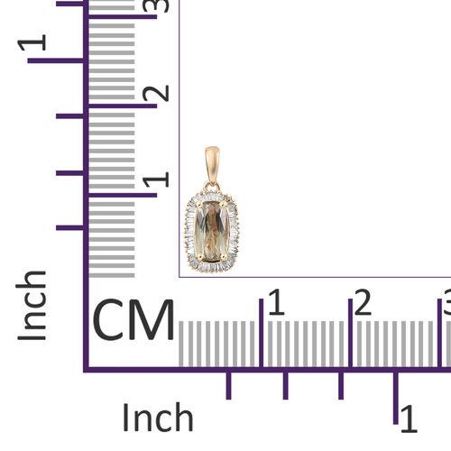 Collectors Edition- ILIANA 18K Yellow Gold AAA Turkizite (Cush 1.30 Ct) and Diamond (SI/G-H) Pendant 1.500 Ct.