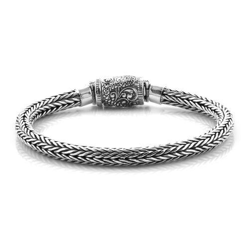 Royal Bali Collection Sterling Silver Tulang Naga Bracelet (Size 7.25), Silver wt 24.45 Gms.