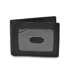100% Genuine Leather RFID Blocker Men Wallet with Magnetic Closure (Size 10x7.5 Cm) - Black