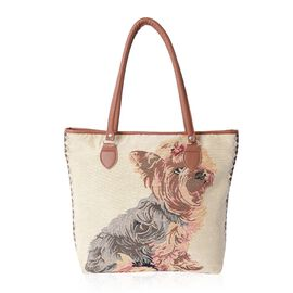 Super Chic Dog Pattern Large Tote Bag (Size 42x32x35x10.5 Cm)