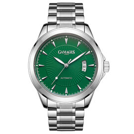 GAMAGES OF LONDON Limited Edition Hand Assembled Open Date Automatic Emerald Green