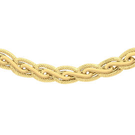 Limited Available Italian Made 9K Yellow Gold Diamond Cut Fancy Necklace (Size 18), Gold wt 14.60 Gms.