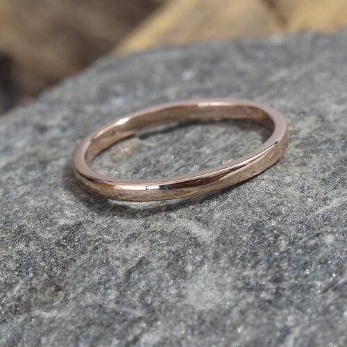 2mm Plain Wedding Band Ring in 9K Rose Gold 1.57 grams