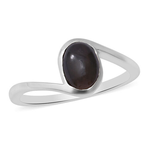 Sillimanite Cats Eye Ring in Sterling Silver 1.50 Ct.