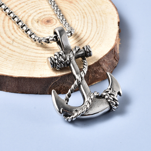 Anchor Pendant with Chain (Size 21.5) in Stainless Steel