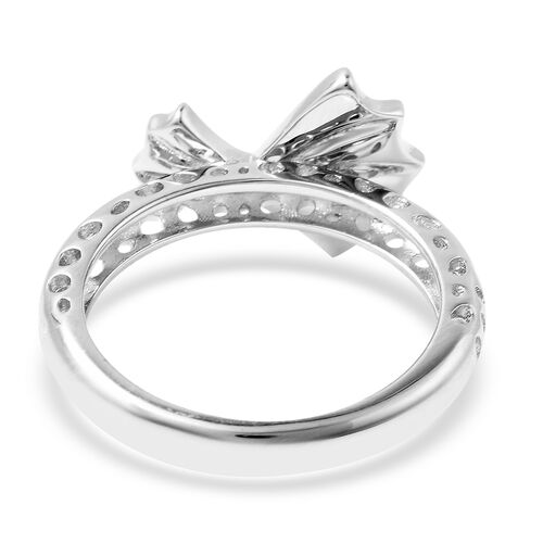 RACHEL GALLEY - Rhodium Overlay Sterling Silver Latticwork  and Bow Ring