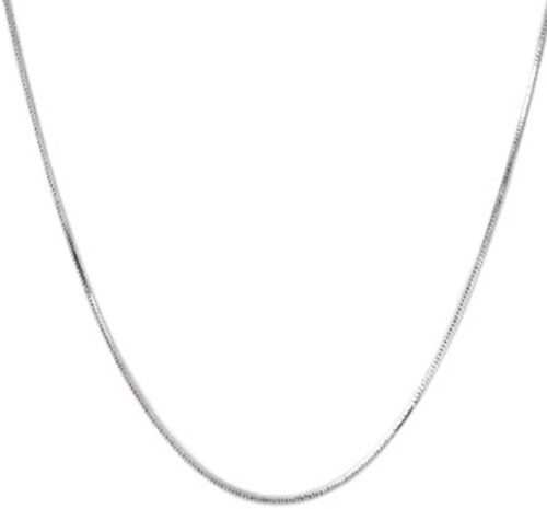 Rhodium Overlay Sterling Silver Snake Chain (Size 20)