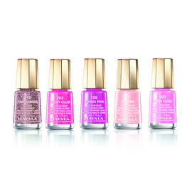 Pink Set: Athens (017), Candy Floss (180), Pink Diamond (215), Night Club (203) & Daring Pink (159)