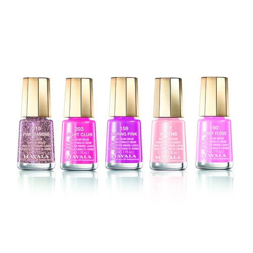 Pink Set: Athens (017), Candy Floss (180), Pink Diamond (215), Night Club (203) & Daring Pink (159)