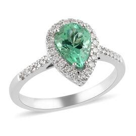 RHAPSODY 950 Platinum AAAA Boyaca Colombian Emerald and Diamond (VS/E-F) Ring 1.65 Ct, Platinum wt.