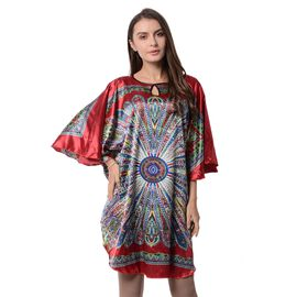 Designer Red and Multi Colour Floral Pattern Apparel