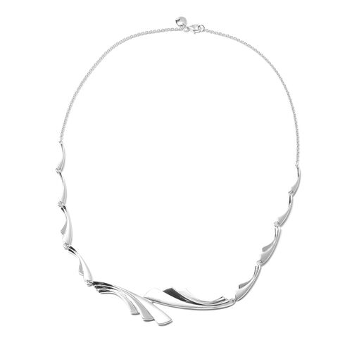 RACHEL GALLEY Sandblast Texture Collection - Rhodium Overlay Sterling Silver Necklace (Size 20), Sil