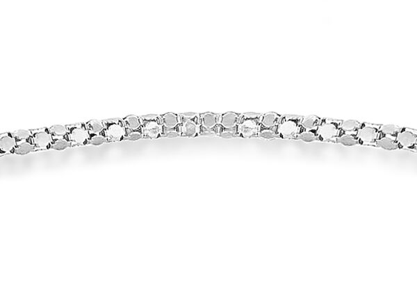 Sterling Silver Heart Popcorn Chain Bracelet (Size 7.5) with Magnetic Lock