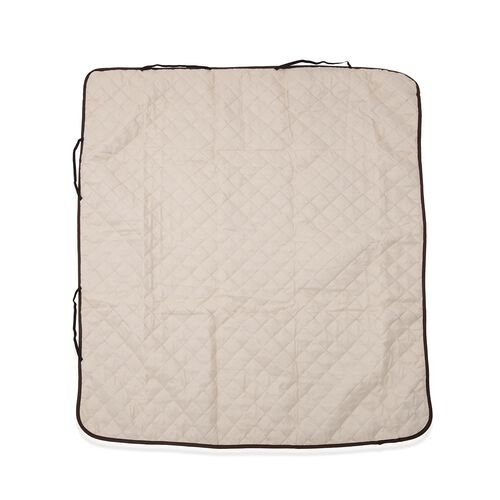 Water Repellent and Quilted Car Boot Cargo Mat - Double Face Chocolate and Cream Colour (138x62 Cm)