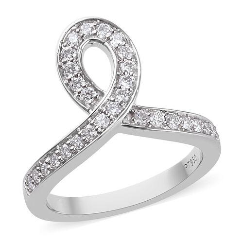 RACHEL GALLEY 0.50 Ct Diamond Wishbone Ring in 950 Platinum IGI Certified VS EF