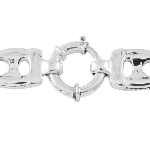 Designer Inspired-Sterling Silver Mariner Link Necklace (Size 20), Silver wt. 52.56 Gms.