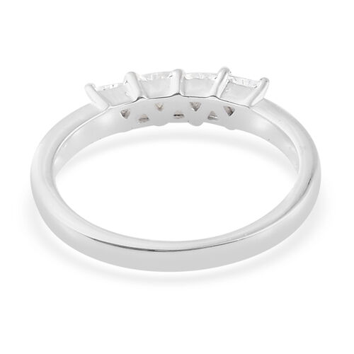 J Francis Sterling Silver (Trl) Ring Made with SWAROVSKI ZIRCONIA