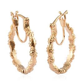 14K Gold Overlay Sterling Silver Earring
