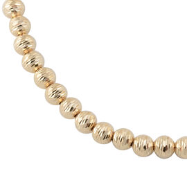 Italian Made Diamond Cut Beaded Necklace in 9K Gold 12.47 Grams Size 18 with 2 inch Extender