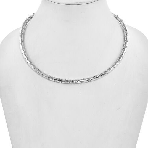 Sterling Silver Weaved Collar Necklace (Size 16), Silver wt 38.75 Gms
