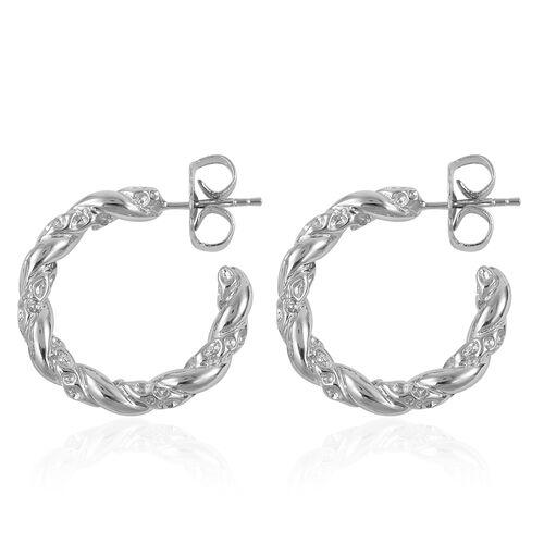 RACHEL GALLEY Rhodium Plated Sterling Silver Earrings, Silver wt 9.49 Gms.