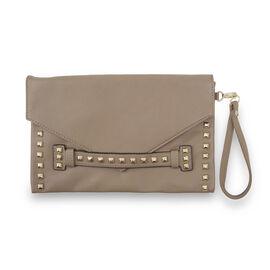 Thomas Calvi - Envelope Style Clutch Bag - Taupe Colour