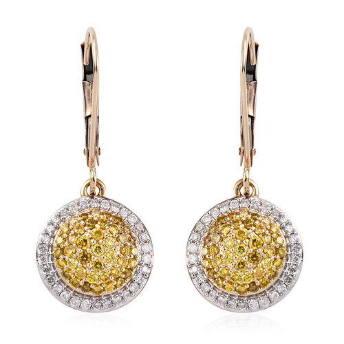Diamond 9K Y Gold Earring  0.750  Ct.