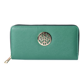 Forest Green RFID Long Clutch Wallet