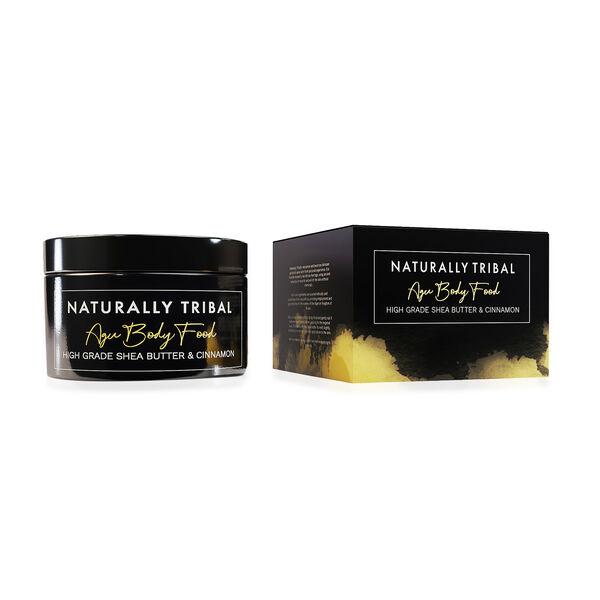 Naturally Tribal: AGU Mens Body Food - High Grade Shea Butter and Cinnamon - 250ml