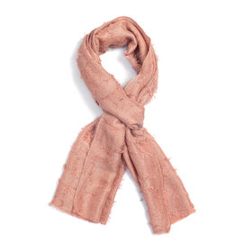 Light Pink Colour Scarf (Size 180x47 Cm)