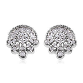 9K White Gold SGL Certified Diamond (Rnd) (I3/G-H) Earrings (with Push Back) 0.330 Ct.