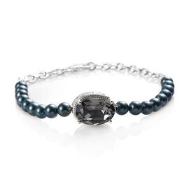 J Francis - Crystal from Swarovski Black Diamond Crystal and Iridescent Tahitian Look Pearl Crystal
