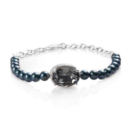 J Francis - Crystal from Swarovski Black Diamond Crystal and Iridescent Tahitian Look Pearl Crystal