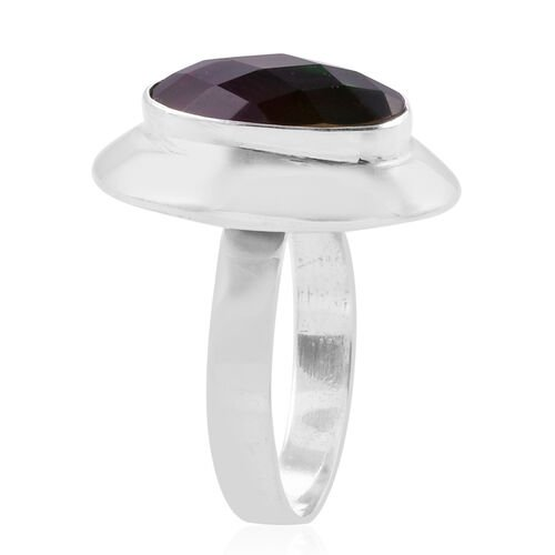 Royal Bali Collection Tourmaline Colour Quartz (Ovl) Solitaire Ring in Sterling Silver 5.930 Ct. Silver wt 4.28 Gms.