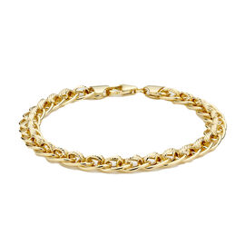 Rollerball Chain Bracelet in 9K yellow Gold 6.35 Grams 7.5 Inch