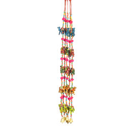 Set of 5 - Handmade and Haindpainted Camel Motif Decorative Hanging Strings (Size 86x5 Cm) - Multico