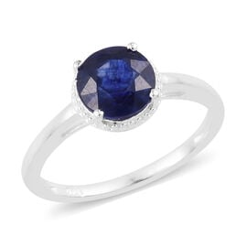One Time Deal- Masoala Sapphire (Rnd 7mm) Solitaire Ring in Sterling Silver 2.000 Ct.