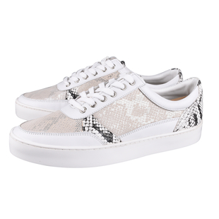 Lotus Stressless Leather Venice Lace-Up Trainers (Size 7) - White