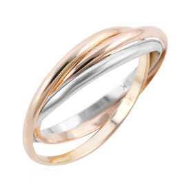 New York Close Out Deal Collection - 9K Tricolour Gold Ring