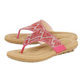 Lotus Patti Flat Toe-Post Sandals in Fuchsia Pink Colour